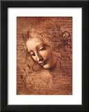 Female Head La Scapigliata Prints by Leonardo da Vinci