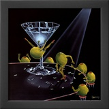Even Dirtier Martini Poster by Michael Godard