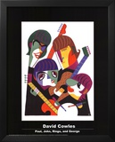 Paul, John, Ringo, and George Posters by David Cowles