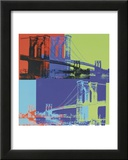 Brooklyn Bridge, c.1983 (Orange, Blue, Lime) Print by Andy Warhol
