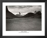 Ansel Adams St. Mary's Lake Glacier National Park Print Poster Art