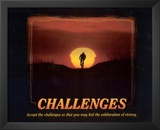 Challenges (Bicyclist) Art Poster Print Prints