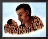 African Tribal Father Art Print POSTER Black History Posters