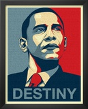 Barack Obama (Destiny, Entire Speech) Art Poster Print Poster