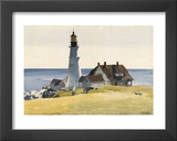 Lighthouse and Buildings, Portland Head, Cape Elizabeth, Maine, c.1927 Print by Edward Hopper