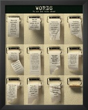 Words (On Toilet Paper, Motivational) Art Poster Print Prints
