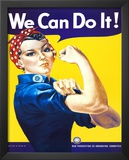 We Can Do It! (Rosie the Riveter) Poster by J. Howard Miller