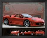 2006 Ferrari 430 Red Car Art Print Poster Prints