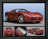 Dodge Viper (Red SRT) Art Poster Print Prints
