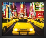 Times Square - Yellow Cabs Poster