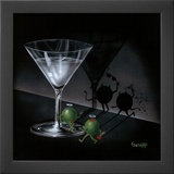 Michael Godard He Devil She Devil Martini Art Print Poster Posters