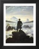 Caspar Friedrich (Wanderer Above the Sea of Fog) Art Poster Print Posters