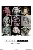 Marilyn Monroe 9 Pictures Collage 1926-1962 Prints