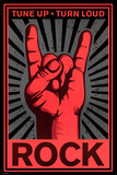 Rock Hand Posters