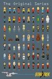 Star Trek- Pixels Kunstdrucke
