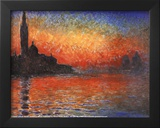 Claude Monet (Sunset in Venice) Art Poster Print Posters
