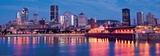 Port of Montreal and Downtown at Dusk Prints by Denis Roger