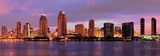 San Diego Downtown Sunset Panorama, California Print