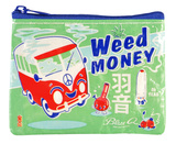 Weed Money Coin Purse Porta-moedas