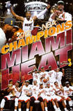 Miami Heat 2012 NBA Champions Celebration Poster