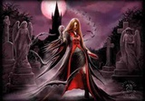 Anne Stokes - Blood Moon Print