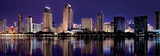 Downtown Cityscape with Buildings Reflecting in San Diego Bay Art