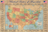 Map of the United States Prints