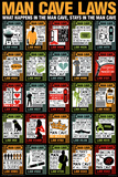 Man Cave Laws Posters