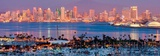 San Diego Skyline at Night and Marina Prints by Andy Z