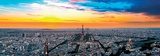 Panorama of Paris with Eiffel with the Eiffel Tower, France Prints