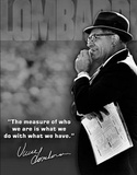 Vince Lombardi Measure of Who We Are Quote Sports Placa de lata