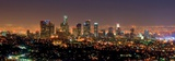 Los Angeles Skyline at Night Poster di Andy Z