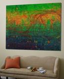 Abstrakt grønt Plakater av  Jefd