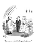 """You may now start packing on the pounds."" - New Yorker Cartoon Premium Giclee Print by Christopher Weyant"