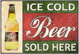 Ice Cold Beer Sold Here Print