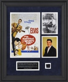 "Elvis ""It Happened At The World's Fair"" framed presentation with a piece of a suit jacket worn by E Framed Memorabilia"