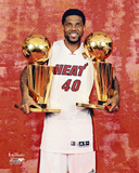 Udonis Haslem NBA Championship Trophy Photo