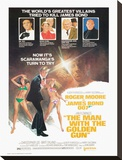 James Bond, The Man with the Golden Gun Stretched Canvas Print