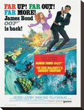 James Bond, Oh Her Majesty's Secret Service Stretched Canvas Print
