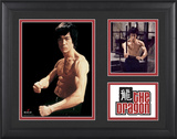 "Bruce Lee ""The Dragon"" framed presentation with two photos Framed Memorabilia"