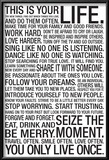 This Is Your Life Motivational Poster Posters