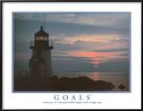 Goals Motivational Lighthouse Art Print POSTER quality Posters
