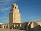 Minaret of the Great Mosque (Or Sidi Okba Mosque), Kairouan, Tunisia Stampa fotografica di Gary Cook
