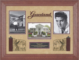 "Elvis Presley ""Graceland"" framed presentation with frame made from tree that fell on Graceland grou Framed Memorabilia"