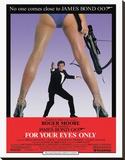 James Bond, Solo para sus ojos Reproducción en lienzo de la lámina
