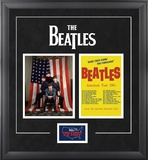 "The Beatles ""1964 U.S.Tour"" framed presentation Framed Memorabilia"