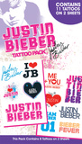 Justin Bieber Tattoo Packs Temporary Tattoos