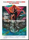 James Bond, Spy Who Loved Me Reproducción en lienzo de la lámina