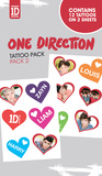 One Direction - Hearts Temporary Tattoos Tatuajes temporales