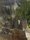 Pinnacles, Ancient Volcanic Vents at Crater Lake National Park, Oregon, USA Photographic Print by David Cobb